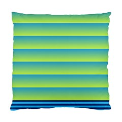 Line Horizontal Green Blue Yellow Light Wave Chevron Standard Cushion Case (one Side) by Mariart