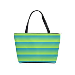 Line Horizontal Green Blue Yellow Light Wave Chevron Shoulder Handbags by Mariart