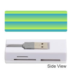 Line Horizontal Green Blue Yellow Light Wave Chevron Memory Card Reader (stick)