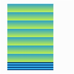 Line Horizontal Green Blue Yellow Light Wave Chevron Small Garden Flag (two Sides) by Mariart
