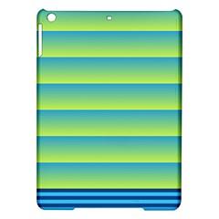 Line Horizontal Green Blue Yellow Light Wave Chevron Ipad Air Hardshell Cases by Mariart