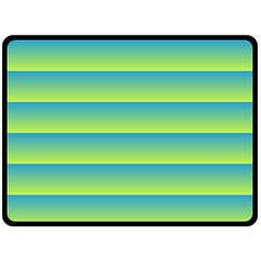 Line Horizontal Green Blue Yellow Light Wave Chevron Double Sided Fleece Blanket (large)  by Mariart