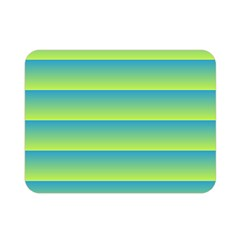Line Horizontal Green Blue Yellow Light Wave Chevron Double Sided Flano Blanket (mini)  by Mariart