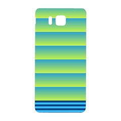 Line Horizontal Green Blue Yellow Light Wave Chevron Samsung Galaxy Alpha Hardshell Back Case by Mariart