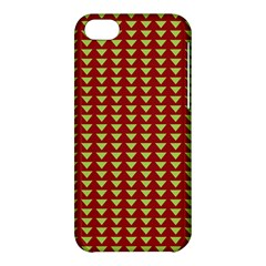 Hawthorn Sharkstooth Triangle Green Red Full Apple Iphone 5c Hardshell Case by Mariart