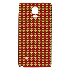 Hawthorn Sharkstooth Triangle Green Red Full Galaxy Note 4 Back Case by Mariart