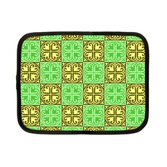 Clipart Aztec Green Yellow Netbook Case (small)  by Mariart