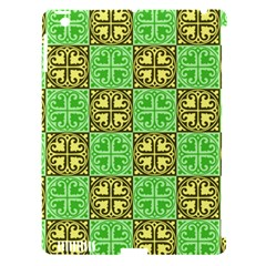 Clipart Aztec Green Yellow Apple Ipad 3/4 Hardshell Case (compatible With Smart Cover) by Mariart
