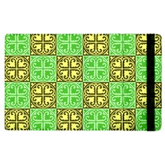 Clipart Aztec Green Yellow Apple Ipad 3/4 Flip Case by Mariart
