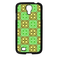 Clipart Aztec Green Yellow Samsung Galaxy S4 I9500/ I9505 Case (black) by Mariart