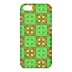 Clipart Aztec Green Yellow Apple Iphone 5c Hardshell Case by Mariart
