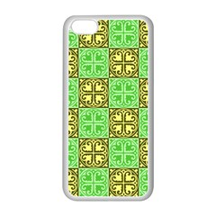 Clipart Aztec Green Yellow Apple Iphone 5c Seamless Case (white) by Mariart