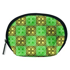 Clipart Aztec Green Yellow Accessory Pouches (medium)  by Mariart