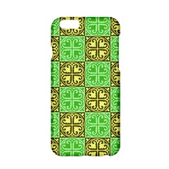 Clipart Aztec Green Yellow Apple Iphone 6/6s Hardshell Case by Mariart