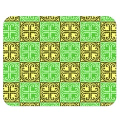 Clipart Aztec Green Yellow Double Sided Flano Blanket (medium)  by Mariart