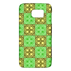 Clipart Aztec Green Yellow Galaxy S6 by Mariart