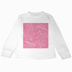 Floral Design Kids Long Sleeve T Shirts by ValentinaDesign