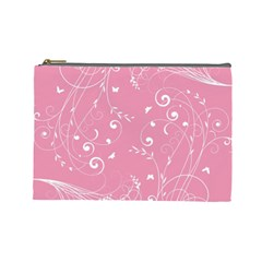 Floral Design Cosmetic Bag (large)  by ValentinaDesign