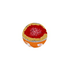 Instant Noodles Mie Sauce Tomato Red Orange Knife Fox Food Pasta 1  Mini Buttons by Mariart