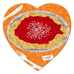 Instant Noodles Mie Sauce Tomato Red Orange Knife Fox Food Pasta Jigsaw Puzzle (heart) by Mariart