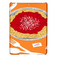 Instant Noodles Mie Sauce Tomato Red Orange Knife Fox Food Pasta Ipad Air Hardshell Cases by Mariart