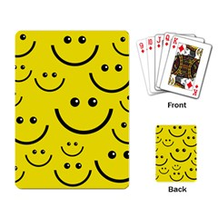 Linus Smileys Face Cute Yellow Playing Card by Mariart