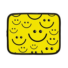Linus Smileys Face Cute Yellow Netbook Case (small)  by Mariart