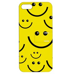 Linus Smileys Face Cute Yellow Apple Iphone 5 Hardshell Case With Stand by Mariart