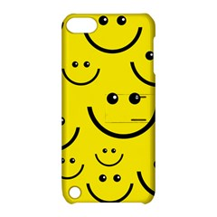 Linus Smileys Face Cute Yellow Apple Ipod Touch 5 Hardshell Case With Stand by Mariart
