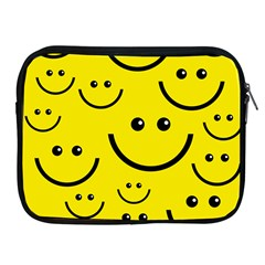 Linus Smileys Face Cute Yellow Apple Ipad 2/3/4 Zipper Cases by Mariart