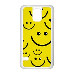 Linus Smileys Face Cute Yellow Samsung Galaxy S5 Case (white) by Mariart