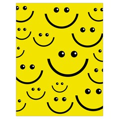 Linus Smileys Face Cute Yellow Drawstring Bag (large) by Mariart