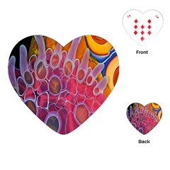 Micro Macro Belle Fisher Nature Stone Playing Cards (heart)  by Mariart