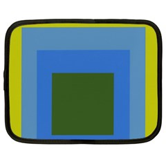 Plaid Green Blue Yellow Netbook Case (xxl)  by Mariart