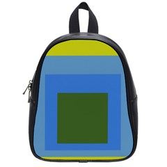Plaid Green Blue Yellow School Bags (small)  by Mariart
