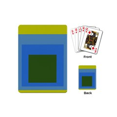 Plaid Green Blue Yellow Playing Cards (mini)  by Mariart