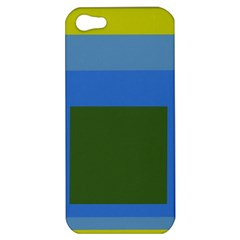 Plaid Green Blue Yellow Apple Iphone 5 Hardshell Case by Mariart