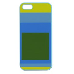 Plaid Green Blue Yellow Apple Seamless Iphone 5 Case (color) by Mariart