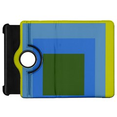 Plaid Green Blue Yellow Kindle Fire Hd 7  by Mariart
