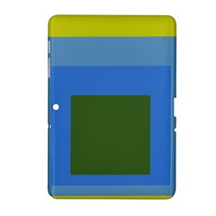 Plaid Green Blue Yellow Samsung Galaxy Tab 2 (10 1 ) P5100 Hardshell Case  by Mariart