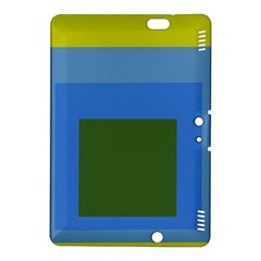 Plaid Green Blue Yellow Kindle Fire Hdx 8 9  Hardshell Case by Mariart