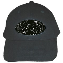 Floral Design Black Cap