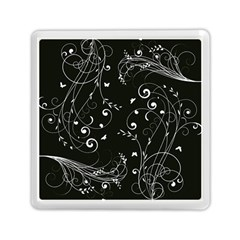 Floral Design Memory Card Reader (square)  by ValentinaDesign