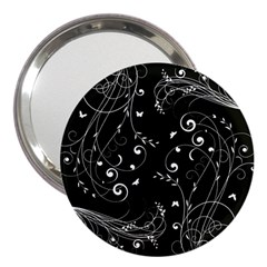 Floral Design 3  Handbag Mirrors