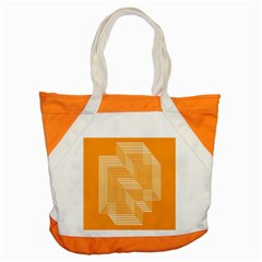 Orange Line Plaid Accent Tote Bag by Mariart