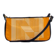 Orange Line Plaid Shoulder Clutch Bags by Mariart