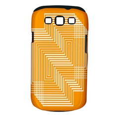 Orange Line Plaid Samsung Galaxy S Iii Classic Hardshell Case (pc+silicone) by Mariart