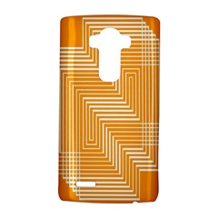 Orange Line Plaid Lg G4 Hardshell Case by Mariart