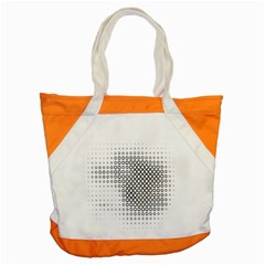 Polka Circle Round Black White Hole Accent Tote Bag by Mariart