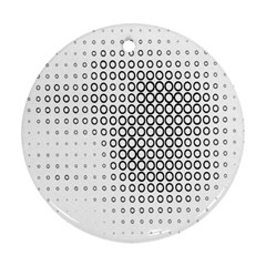 Polka Circle Round Black White Hole Round Ornament (two Sides) by Mariart